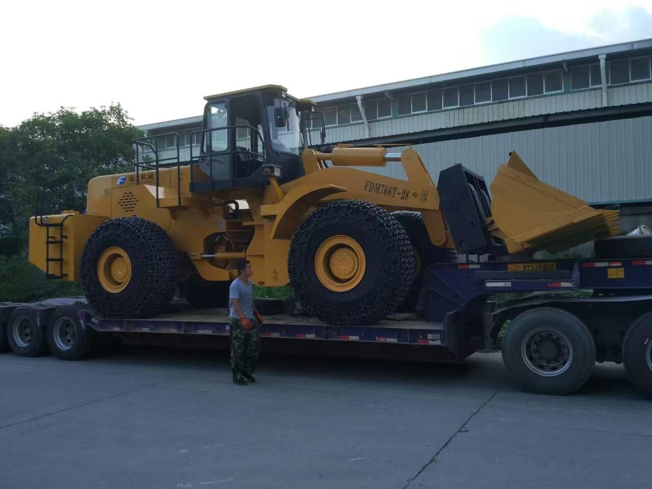 28 ton block handler sent to jiuquan gansu, china
