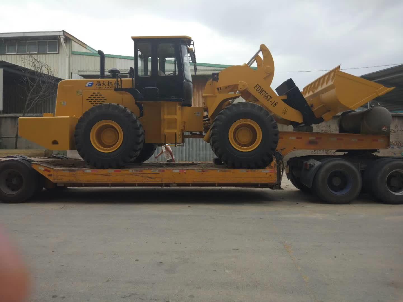 18t forklift loader sent to taiwan, china