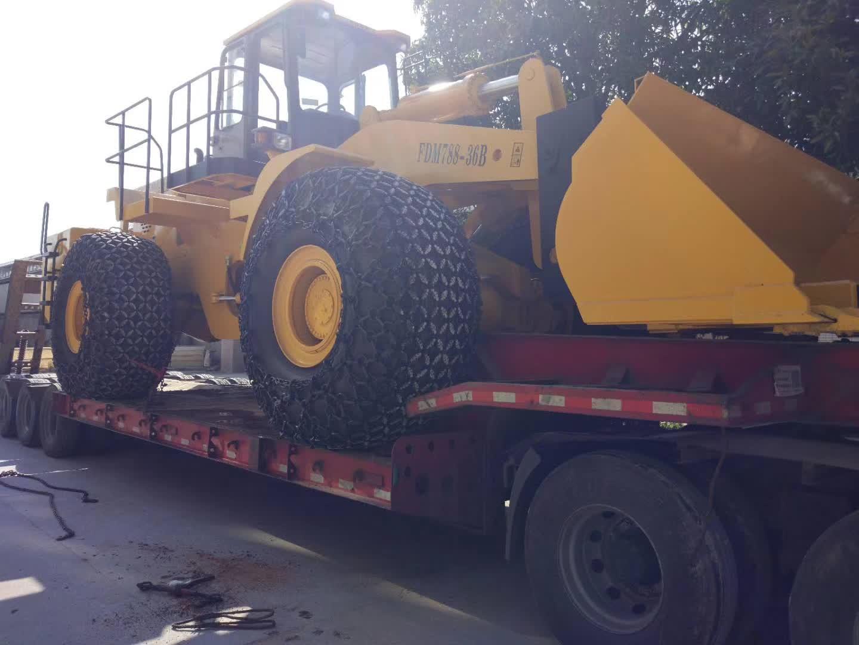 36 ton block handler sent to sichuan, china