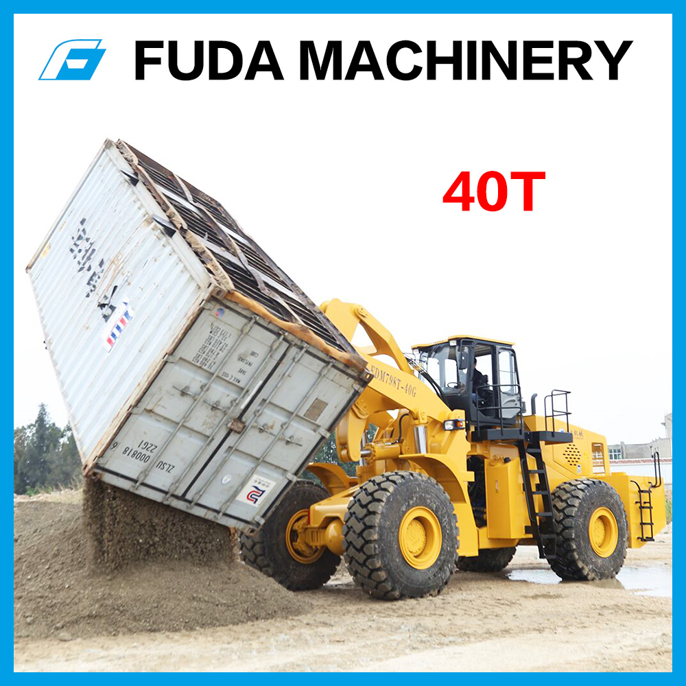 container forklift truck with rotator